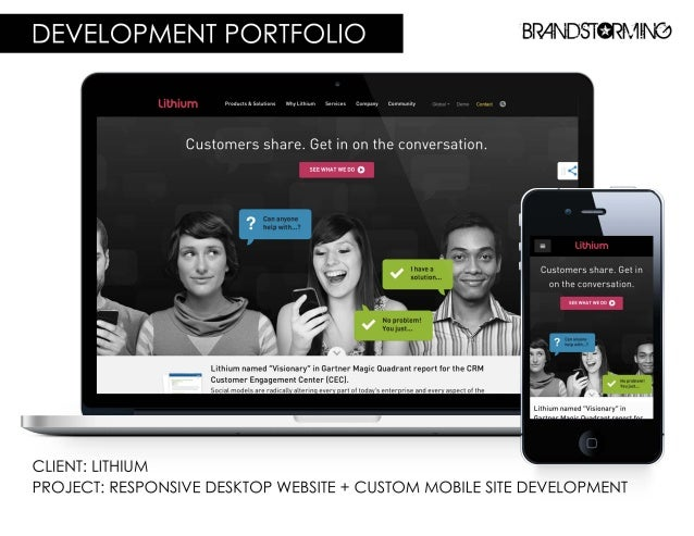 DEVELOPMENT PORTFOLIO BRr4ND5T9RM-'N9  wwwwww Is&SuIuIons wIIvI. ImIuIII Services Company Comrnunlly  Customers share.  Ge...