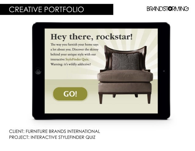 """CREATIVE PORTFOLIO BRr4ND5T9RI'v""""I-INC'?   Hey there,  rockstar!   The way you furnish your home says  a lot about you.  D..."""