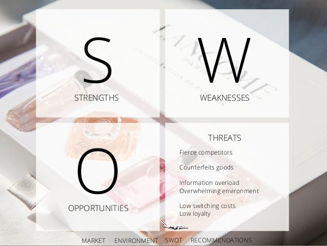 lancome swot Swot analysis the swot analysis is a strategic planning method which takes   are the luxury products, such as lancome, helena rubinstein and biotherm.