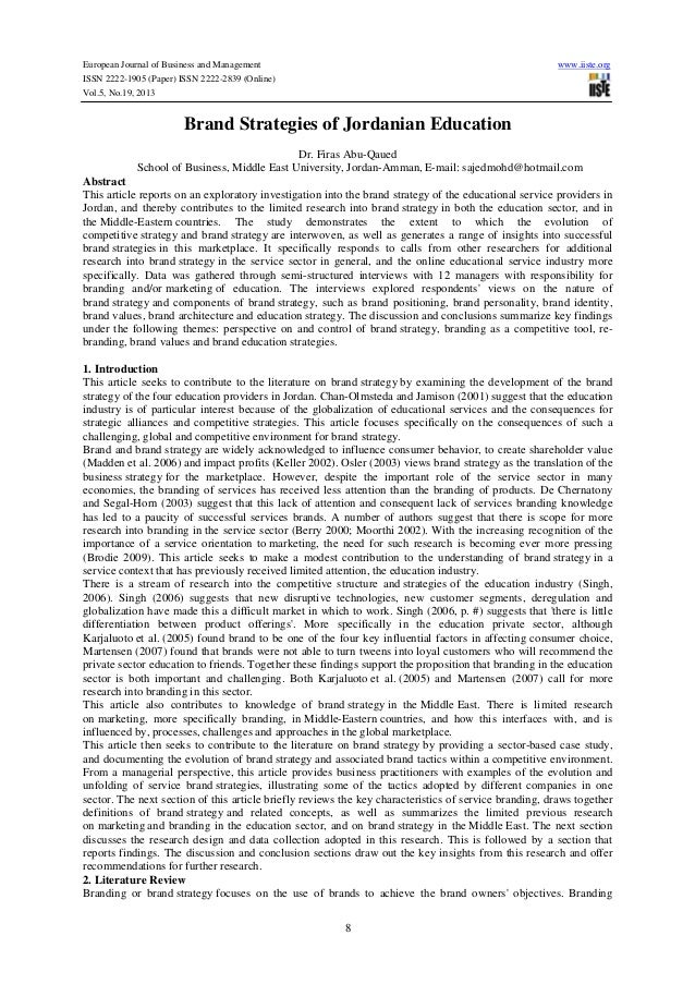 European Journal of Business and Management www.iiste.org ISSN 2222-1905 (Paper) ISSN 2222-2839 (Online) Vol.5, No.19, 201...