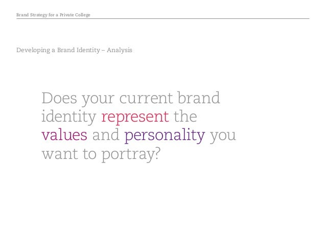 Brand Strategy for a Private College Developing a Brand Identity – Analysis Does your current brand identity represent the...
