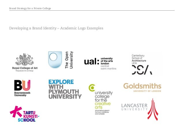 Brand Strategy for a Private College Developing a Brand Identity – Academic Logo Examples