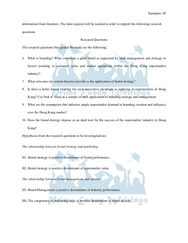 Prime Essay Writings Sample Brand strategy for the supermarket indust…