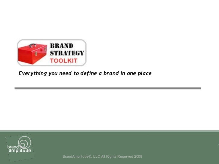 Everything you need to define a brand in one place