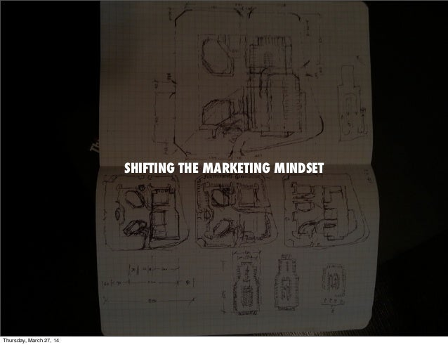 SHIFTING THE MARKETING MINDSET Thursday, March 27, 14