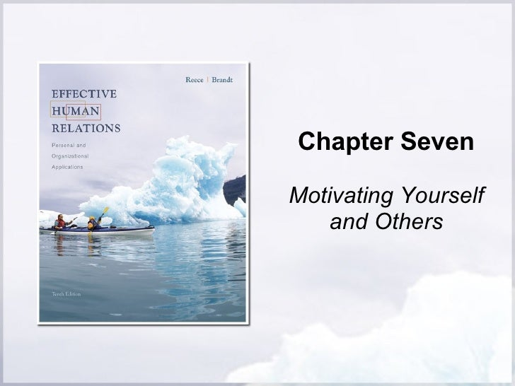 Chapter Seven Motivating Yourself and Others