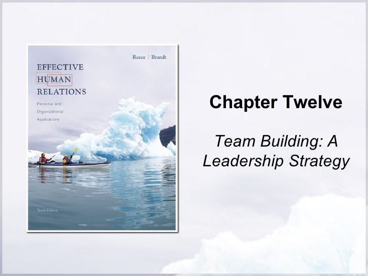 Chapter Twelve Team Building: A Leadership Strategy