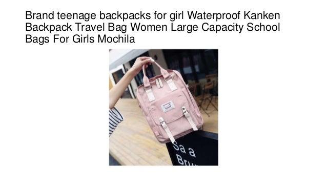 c067c7d882 Brand teenage backpacks for girl waterproof kanken backpack travel ba…