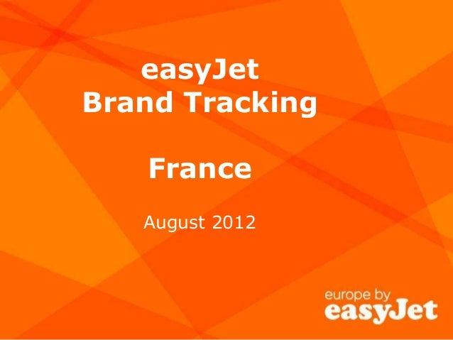easyJet Brand Tracking France August 2012