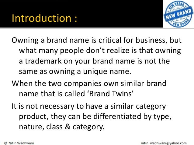 Same Name: Brand Twins (with Examples)