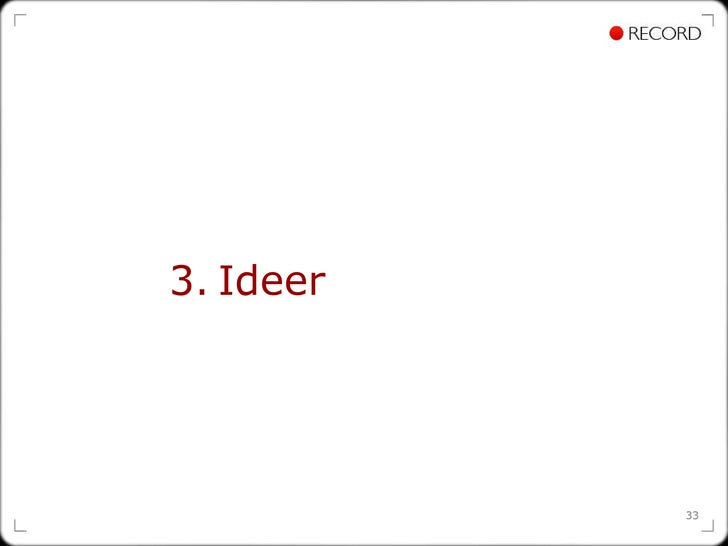 3.   Ideer