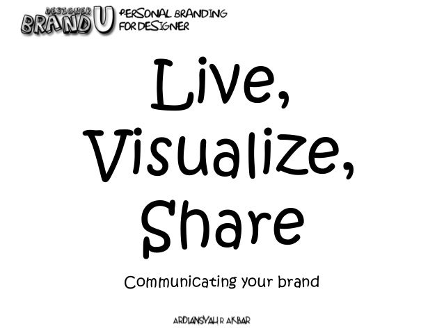 Communicating your brand Live, Visualize, Share