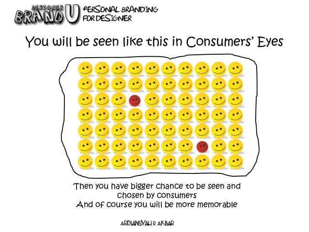 You will be seen like this in Consumers' Eyes Then you have bigger chance to be seen and chosen by consumers And of course...