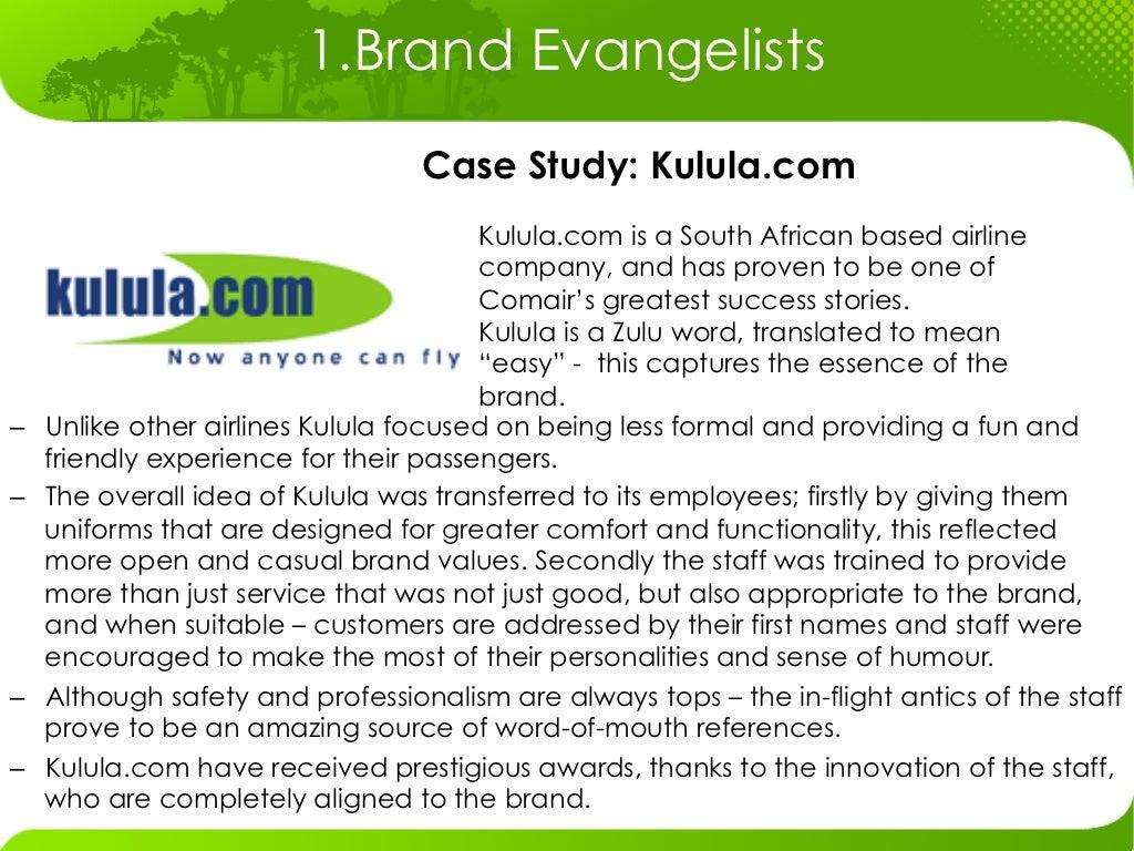 Kulula Case Study - Question 1 The key success factors ...