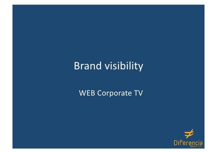 Brandvisibility WEBCorporateTV