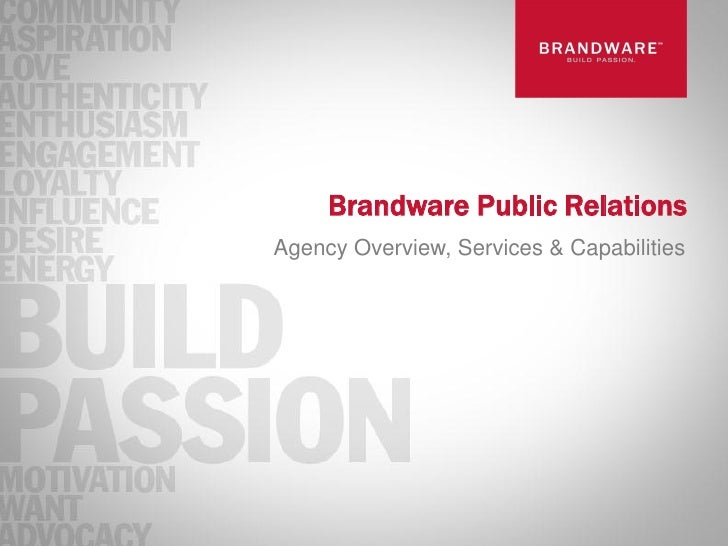 Brandware Public RelationsAgency Overview, Services & Capabilities