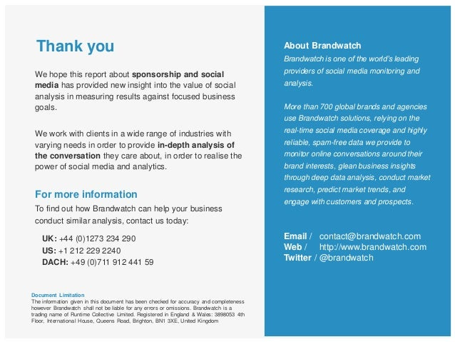 Thank you24We hope this report about sponsorship and socialmedia has provided new insight into the value of socialanalysis...