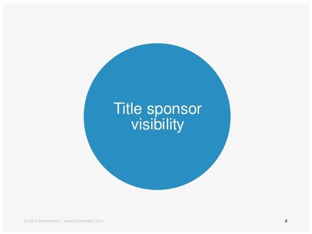 8Title sponsorvisibility© 2013 Brandwatch | www.brandwatch.com