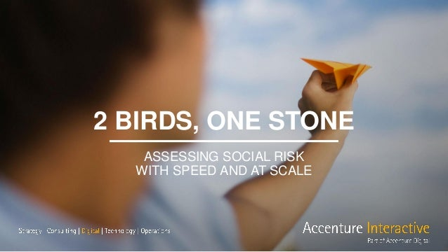 2 BIRDS, ONE STONE ASSESSING SOCIAL RISK WITH SPEED AND AT SCALE