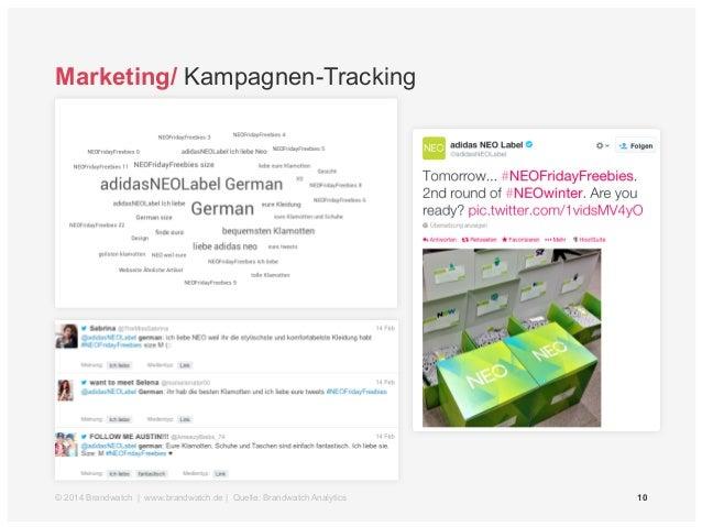 Marketing/ Kampagnen-Tracking  © 2014 Brandwatch | www.brandwatch.de | Quelle: Brandwatch Analytics 10