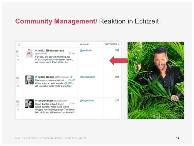 Community Management/ Reaktion in Echtzeit  © 2014 Brandwatch | www.brandwatch.de | Quelle Bild: Gala.de 12