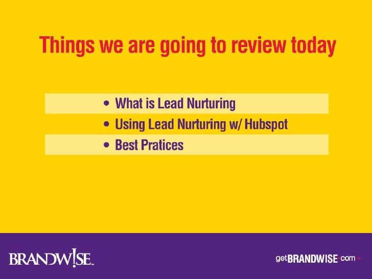 Brandwise Lead Nurturing Slide 2