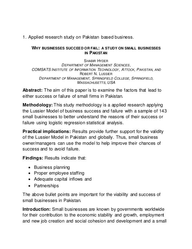 business research report writing  2 1 applied research study on based business