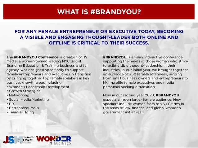 BRANDYOU CONFERENCE 2020 - Sponsorship Opportunities for Female facin…