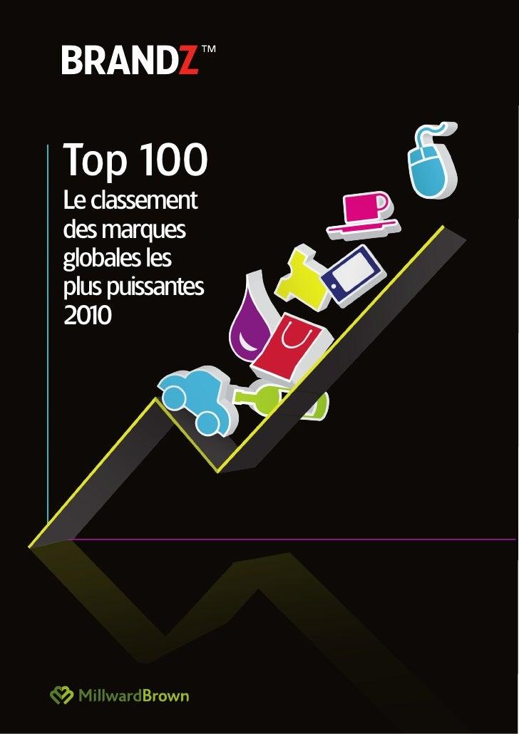 Top 100 Le classement des marques globales les plus puissantes 20 0    1