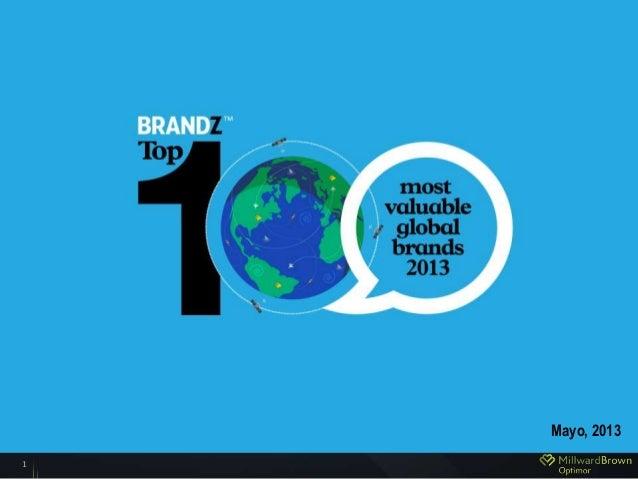 BRANDZ™ Top 1002013 pr eliminar y r esultsMayo, 20131
