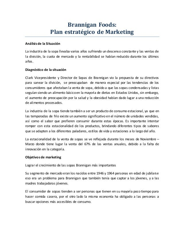 a case analysis of the strategic marketing regarding brannigan foods Case solution for new earth mining, inc  com if you want to order for new earth mining, inc case solution, case analysis, case study  com case study name: brannigan foods: strategic marketing planning.