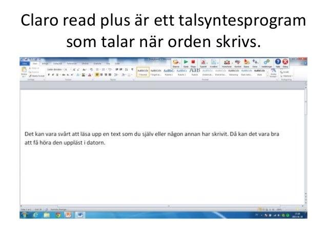 Bra program för dig med läs  och skrivsvårigheter Slide 3
