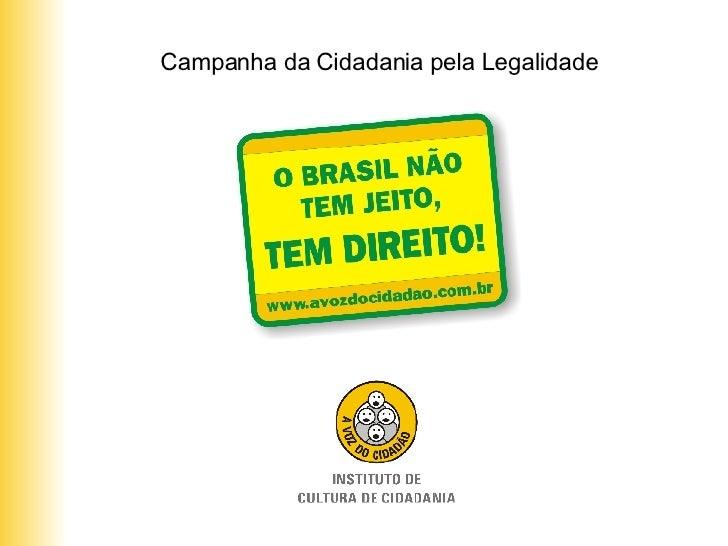 Campanha da Cidadania pela Legalidade