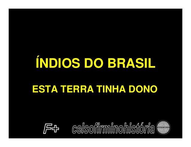 ÍNDIOS DO BRASILESTA TERRA TINHA DONO