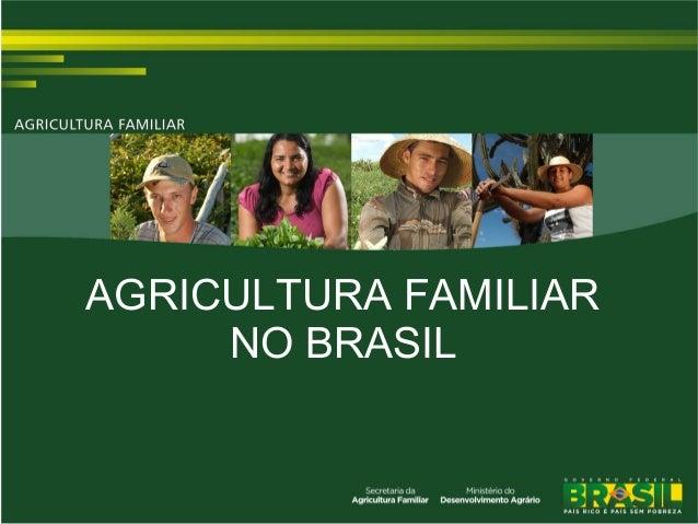 AGRICULTURA FAMILIAR NO BRASIL