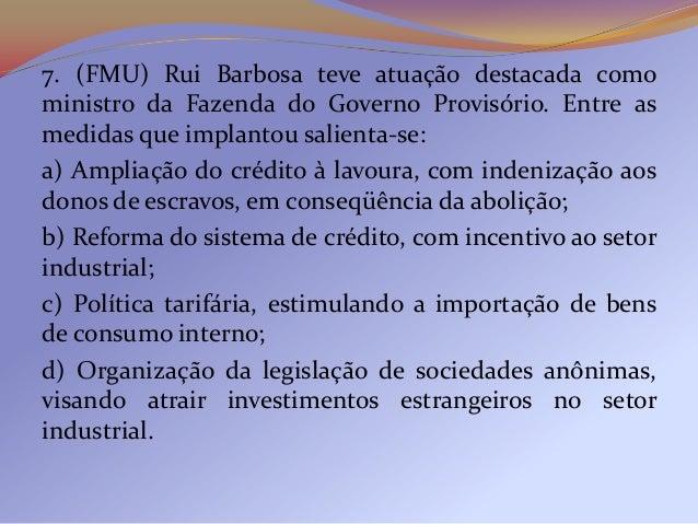 """QUESTÃO ANTERIOR:A) Cite e justifique dois motivos pelos quais o povoadode Canudos incomodava as """"autoridades políticas lo..."""