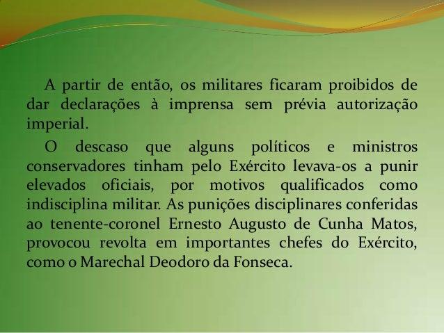 Deodoro da Fonseca: executor de umamudança construída ao longo do tempo