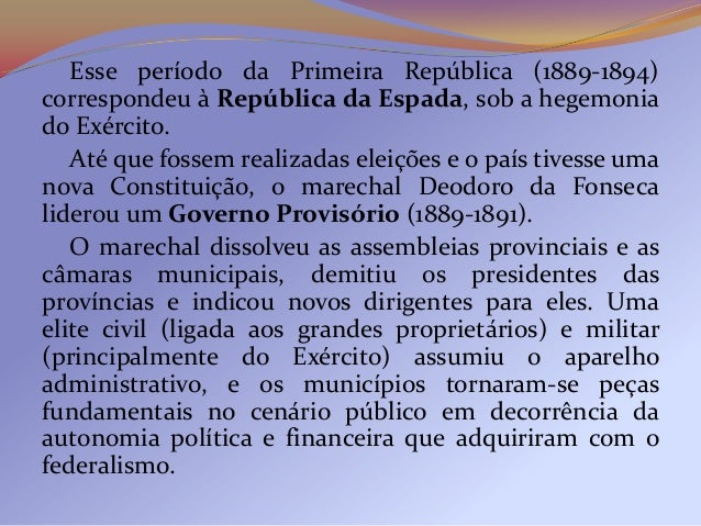 As negociações políticas na Primeira Repúblicaenvolveram os vários partidos republicanos de expressãoregional ou estadual,...