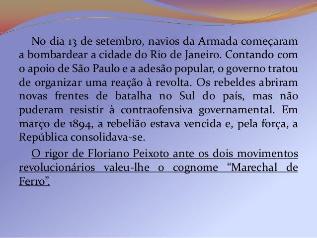 2º Resumo           1. República da Espada (1889-1894)                 1.1 Governo de Deodoro  1ª Fase: Governo Provisório...
