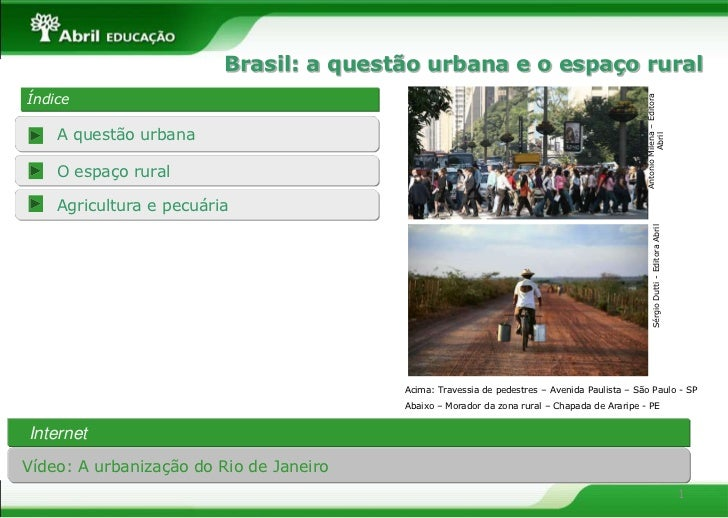 Brasil: a questão urbana e o espaço ruralÍndice                                                                           ...