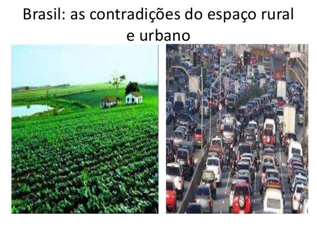 Brasil: as contradições do espaço rural e urbano