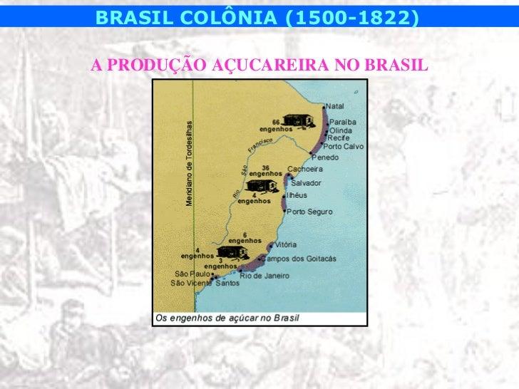 BRASIL COLÔNIA (1500-1822)A PRODUÇÃO AÇUCAREIRA NO BRASIL