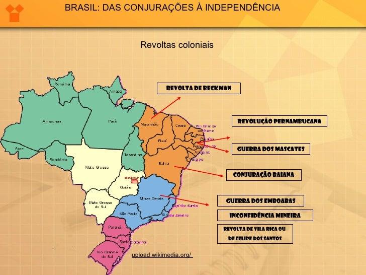 BRASIL: DAS CONJURAÇÕES À INDEPENDÊNCIA               Revoltas coloniais                        REVOLTA DE BECKMAN        ...