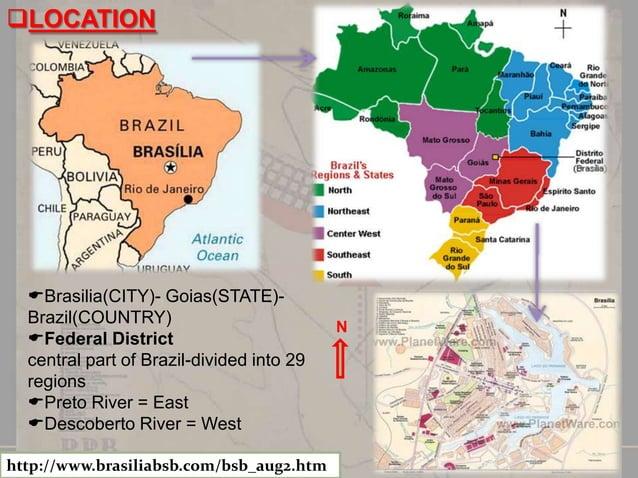 SIZE:2245 sq. mile (5814 sq.m )  PROJECT:•1956 LUCIO COSTA brazilian urban planner wins competition •Major government bu...