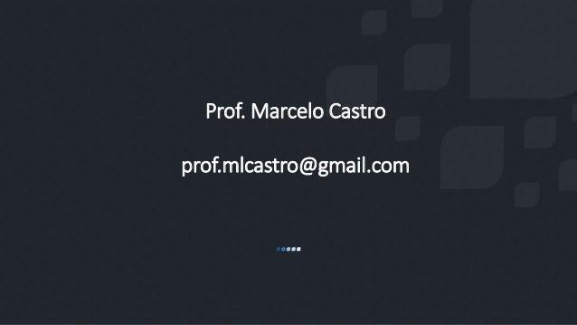 Prof. Marcelo Castro prof.mlcastro@gmail.com
