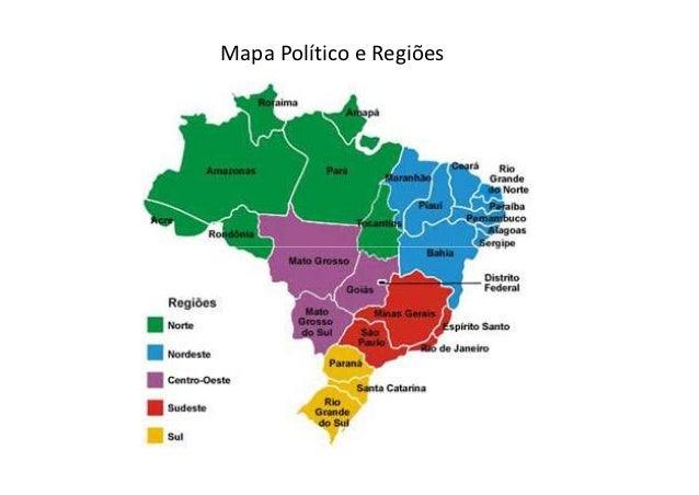 Mapa Político e Regiões