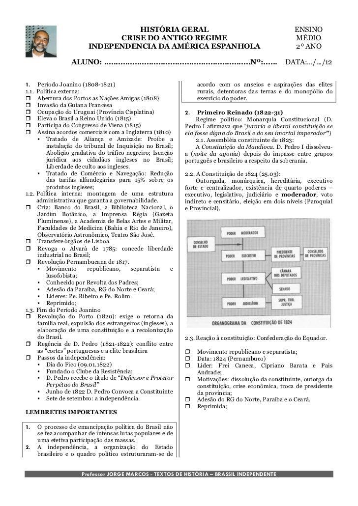 HISTÓRIA GERAL                                                      ENSINO                               CRISE DO ANTIGO R...