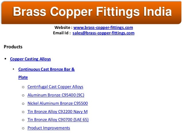 Brass Fittings Copper Fittings India