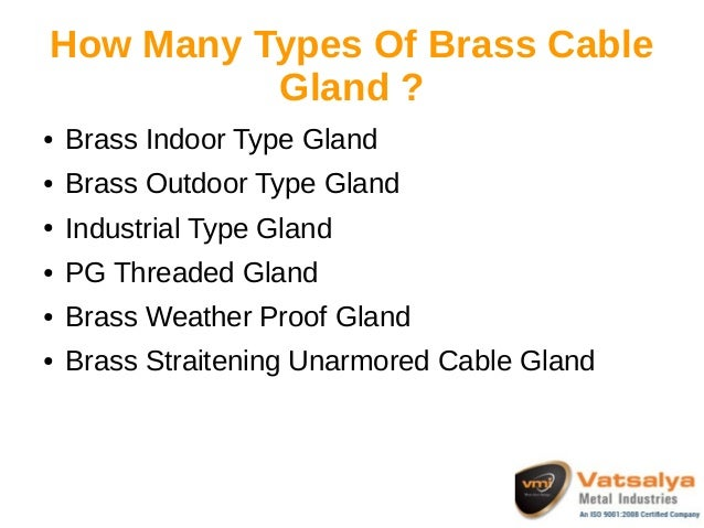 Brass cable gland manufacturer and suppliers