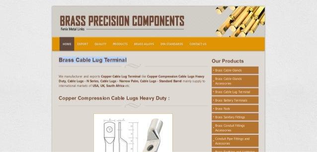Brass cable lug terminal